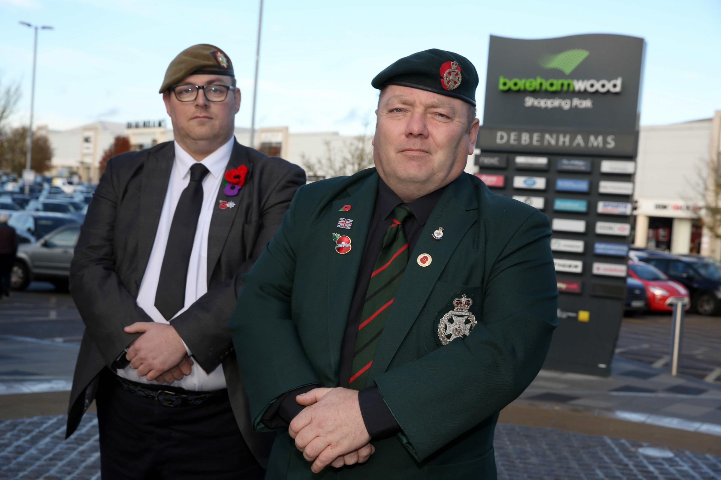 Management company apologise after poppy sellers were moved on for 'health and safety reasons'