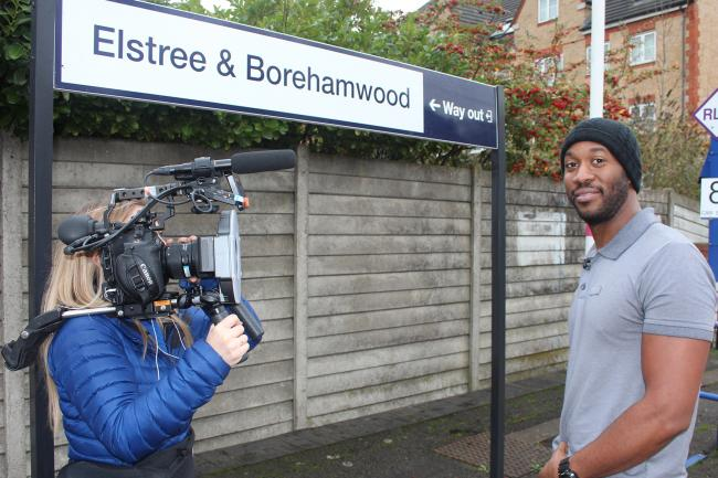 Driver Jaren Stanley in action at Elstree & Borehamwood station