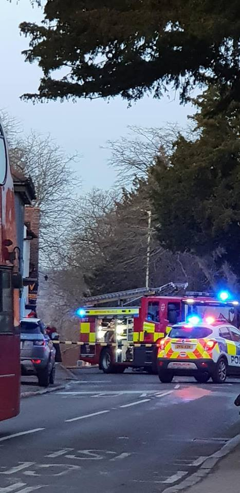 Emergency services on the scene in Elstree Picture: Avi Gal