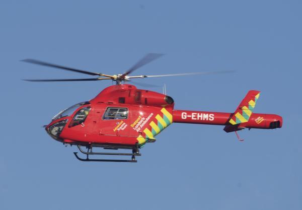 An air ambulance has attended (stock image)