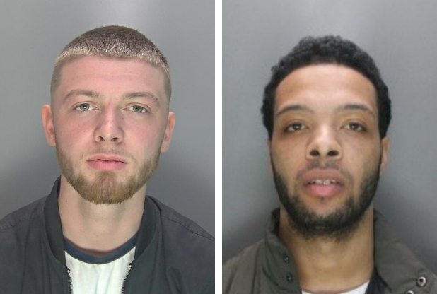 Jack McGrath (left) and Saachicco Williamson were sentenced at St Albans Crown Court. Photo: Herts Police
