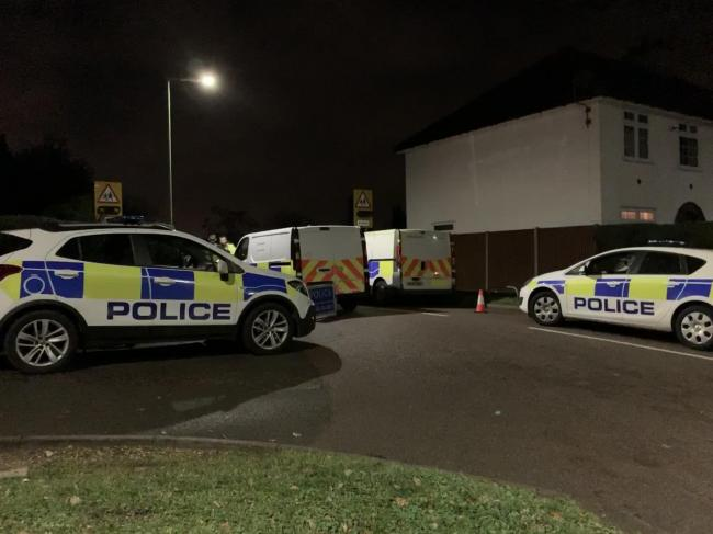 Police in Walshingham Way on the night of November 28