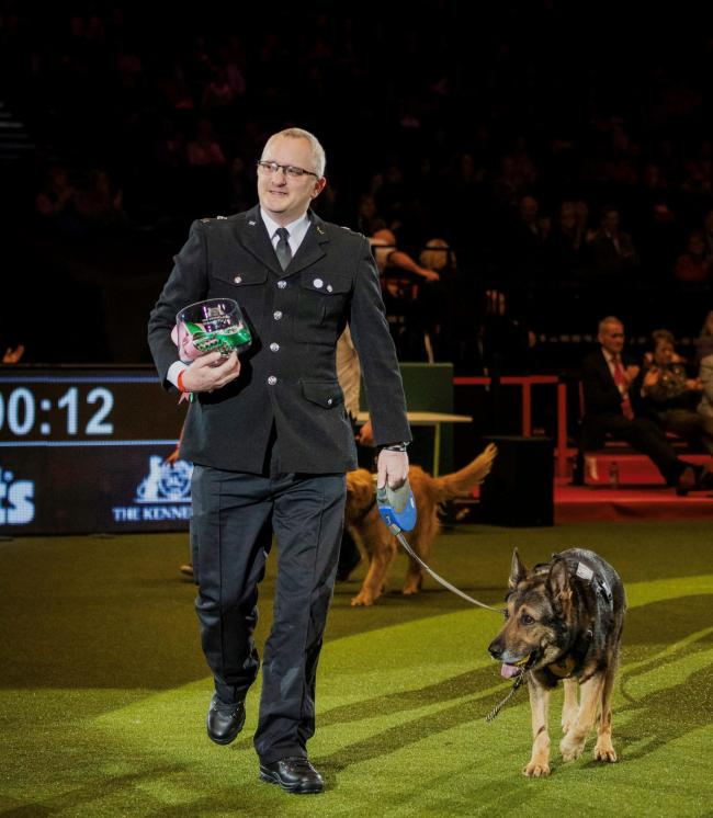 Police Dog Finn and handler PC Dave Wardell. Photo: Beat Media and the Kennel Club