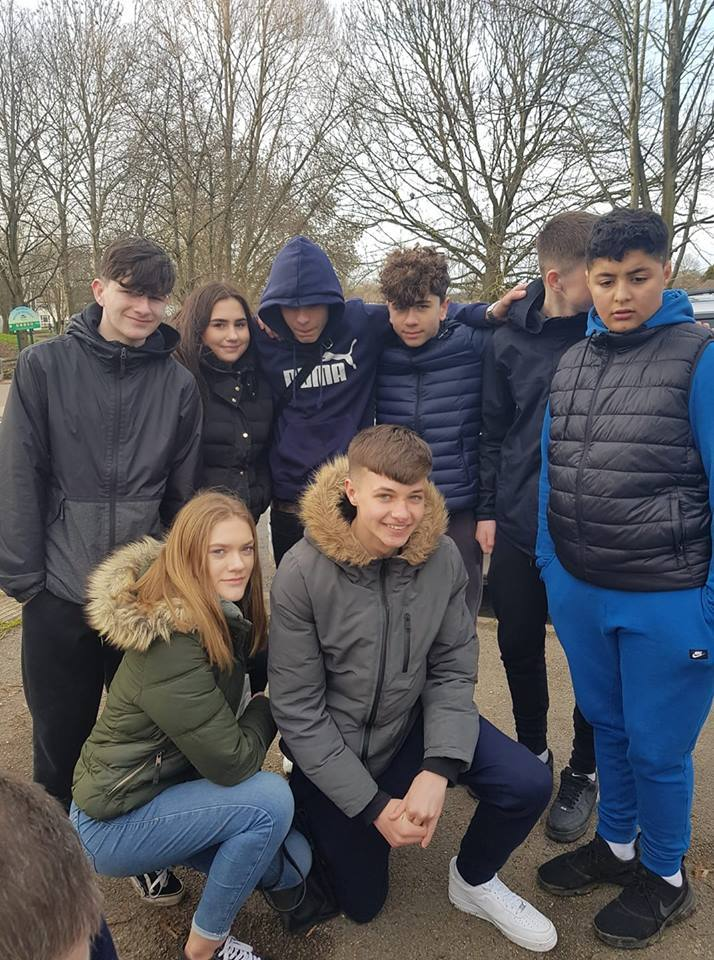 (standing left to right) Joe Mercer, Mia Plunkett, Jay J Embleton, Oliver Moynihan, Calum Egan, and Mohammid Ketami. (front) Emily Clark and Jamie Ford