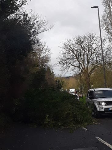 This is the scene on the A411 Watford Road in Elstree Photo: @Herts_Highways