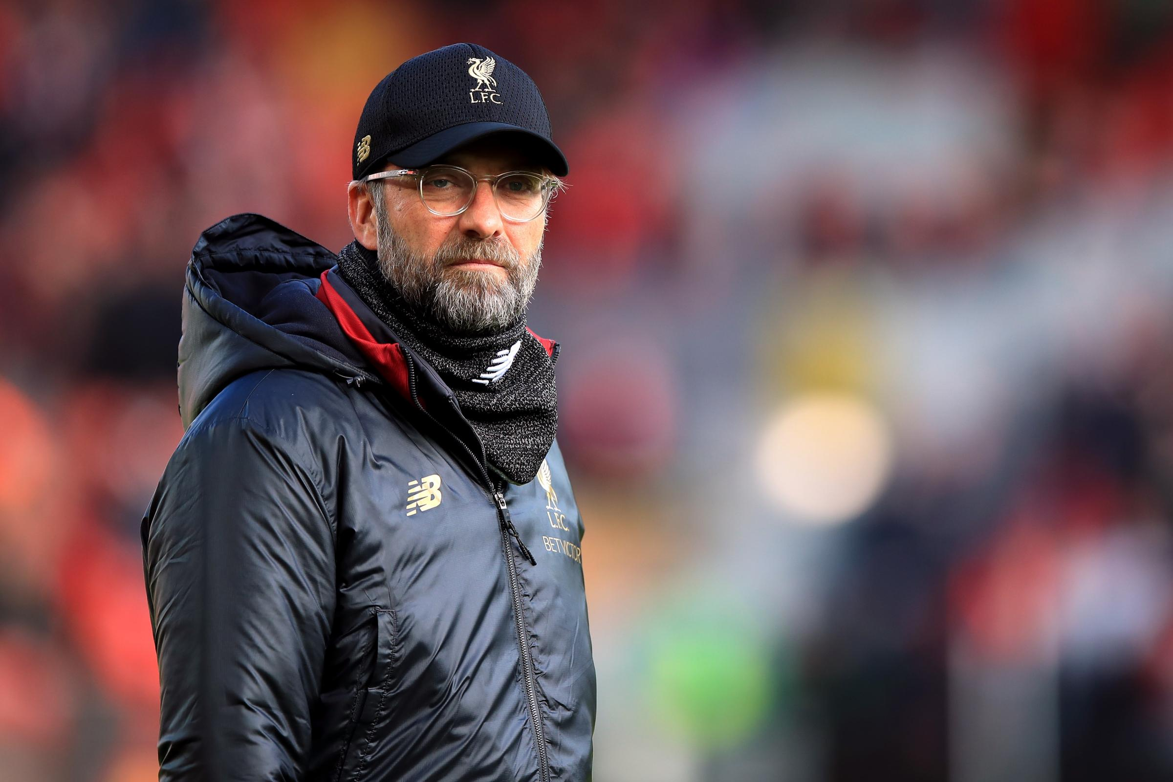 Liverpool manager Jurgen Klopp does not Manchester City will struggle if they have to chase them in the title race