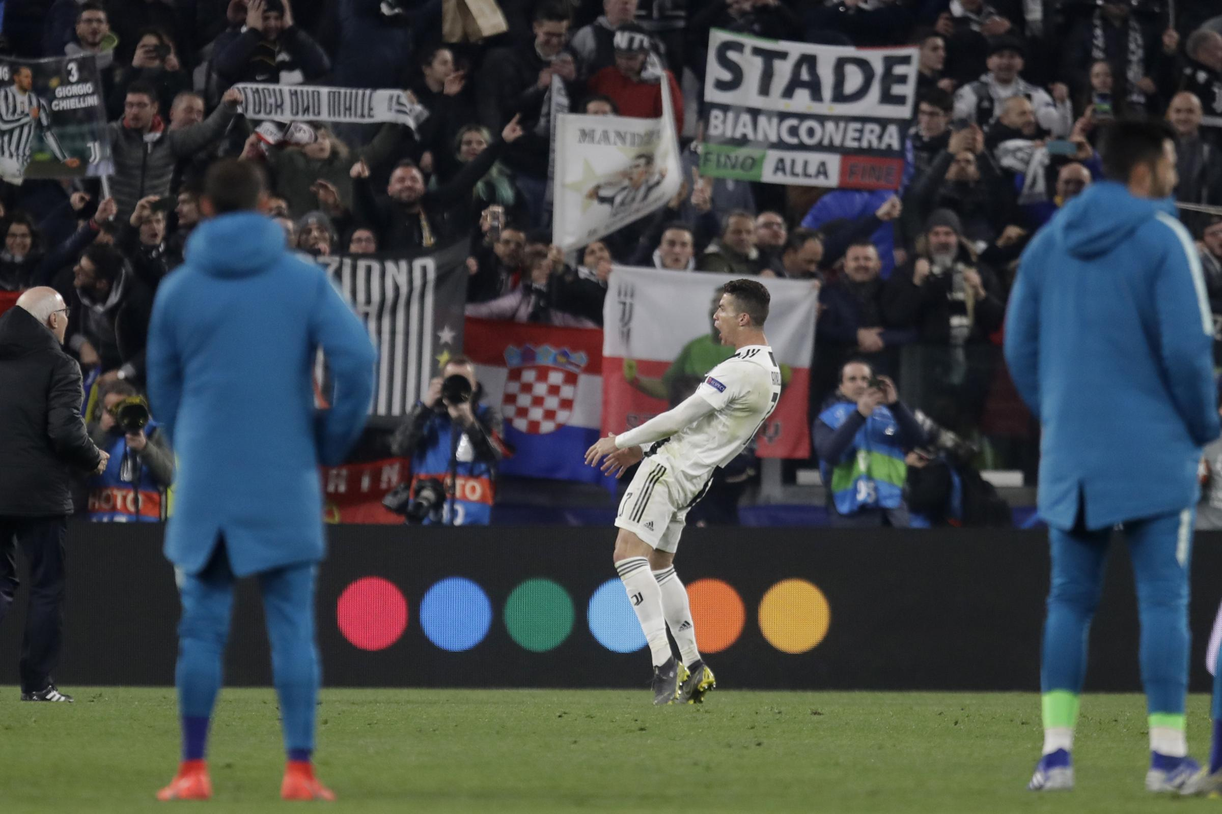 Cristiano Ronaldo had celebrated in front of the Atletico Madrid fans.