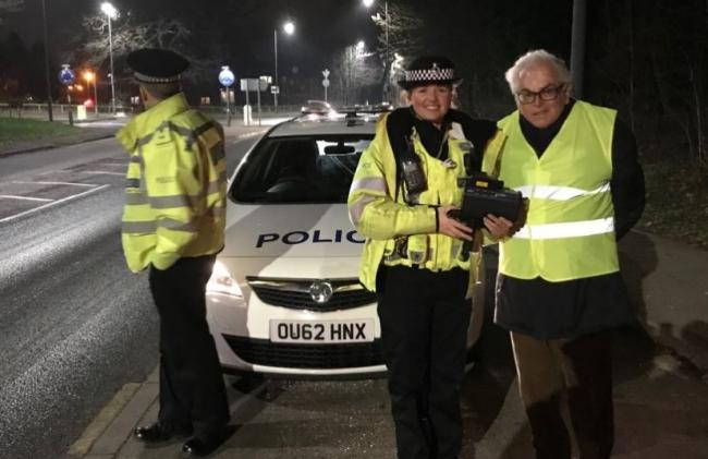 Cllr Anthony Spencer pictured with local officers in Black Lion Hill. Credit: Hertsmere Conservatives
