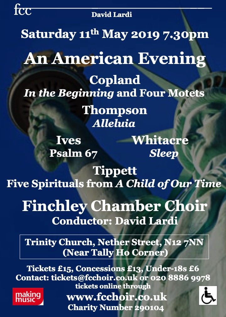 An American Evening with Finchley Chamber Choir