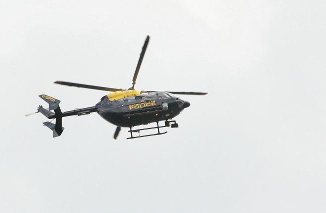 The police helicopter was out over Mill Hill
