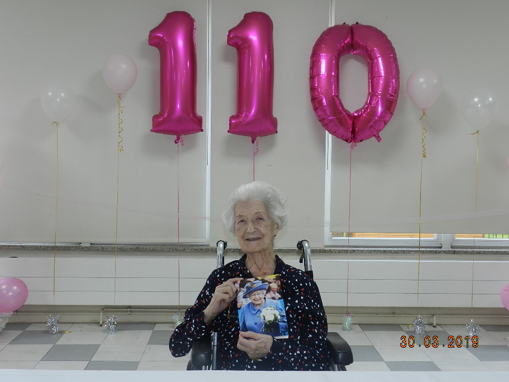 Matilde Coulter celebrates reaching the remarkable age of 110