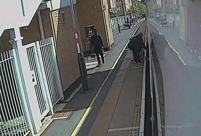CCTV captured the moment Jonty became trapped between the door and the platform. Credit: PA