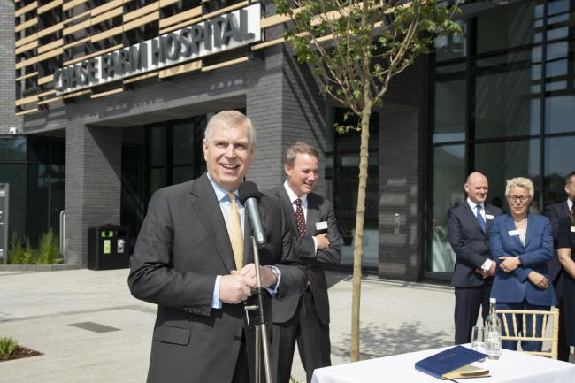 Official opening ceremony of the new Chase Farm Hospital with Prince Andrew