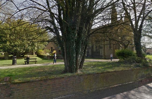 Police are investigating a rape outside St Peter's Church, St Albans